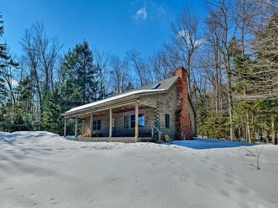 Photo for NEW! Secluded Log Cabin By Mt. Snow & Stratton Mtn