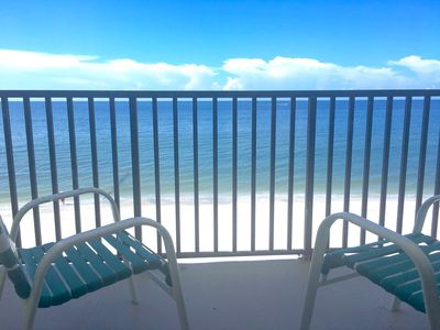 "Photo for Gulf Front 1023318 Open 3/30-4/6 2bd/2bth 75ft to Ocean 55""TV Heated Pool Wifi"