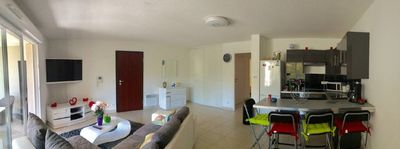 Photo for Calvi A great 3 brand new rooms of 70 sqm loggia of 18 m2 south / very quiet beach and town center