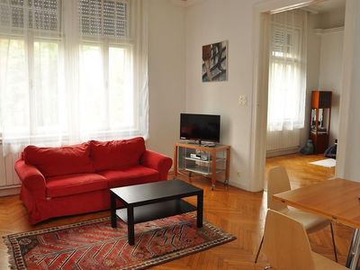 Photo for Apartment 420 m from the center of Budapest with Internet, Air conditioning, Lift, Parking (391374)