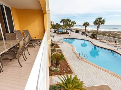 Photo for Gulf front Condo w/ Pools, hot tub onsite, Nearby Dining and attractions!