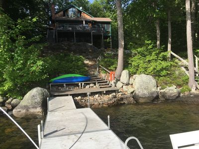 Photo for Gorgeous lakefront home on Sebago Lake!