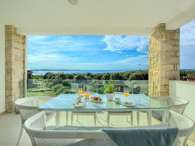 Photo for Luxury apartment Brioni Sunset 1, sea view, pool