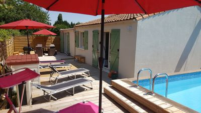 Photo for Detached villa in Les Mathes with private heated pool - Villa Cachée (Sleeps 8)