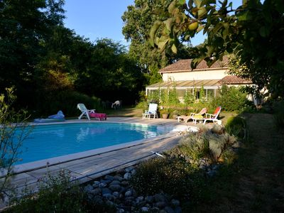Photo for Landaise charming house in the heart of a botanical park with swimming pool