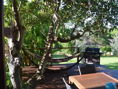 Photo for Beach Getaway backs onto bushland and the track to Inyadda Beach. Airconditioning downstairs.