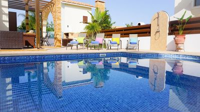 Photo for Villa Poseidon - Modern Villa in Exclusive Development with Large Pool, BBQ, WIFI and UK Channels