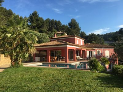 Photo for Superb villa with independent T2 conditioned, pool sea view, pool house, wifi
