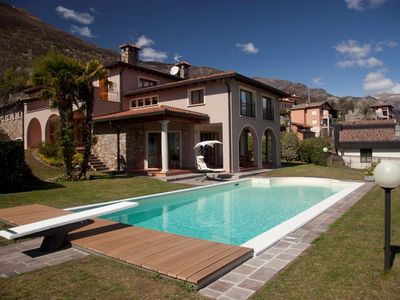 Photo for VILLA PRINCIPESSA  - MODERN HOLIDAY HOUSE WITH POOL AND SPA ON LAKE COMO