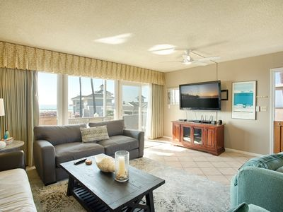 Photo for Oceanfront Upper Condo Overlooking Newport Pier Near Dining & Shops with AC!