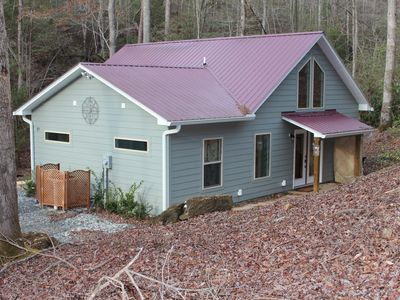 Photo for Charming Quiet New Creekside Home With Covered Porch & Hot Tub Near New Casino