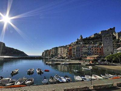 Photo for cozy studio in portovenere near Cinque Terre, air conditioning in town, sleeps 2