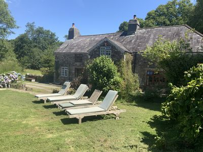 Photo for YEO - Stunning 800 yr old Farmhouse, sleeps 12, + Hot Tub, in private 100+ acres