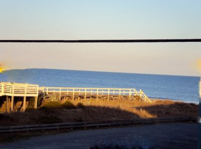 View of Ocean and beach access from front deck.