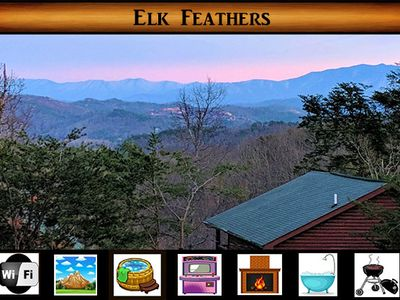 Photo for Elk Feathers - Great VIEWS / Arcade Game / Hot Tub / WiFi / Jacuzzi Tub / Grill