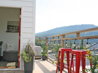 Photo for Relax Chattanooga Luxury Apartment + Rooftop Deck (Above a Spa)