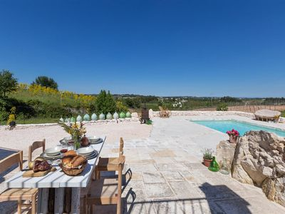 Photo for 663 Trullo with Panoramic Pool in Martina Franca