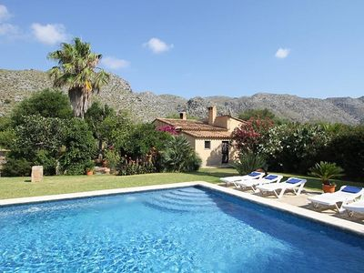 Photo for This 3-bedroom villa for up to 6 guests is located in Pollensa and has a private swimming pool......