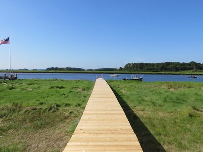 Photo for Waterfront Cottage has Private Dock On Parker River, Newbury (near Plum Island)