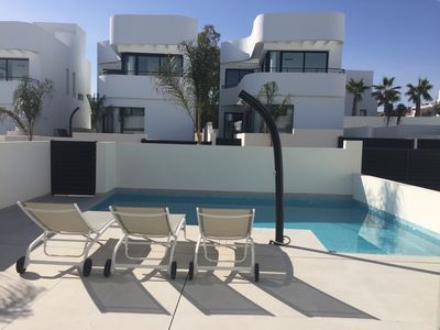 Photo for NEW !!!! Modern villa with pool in La Marina - near Alicante
