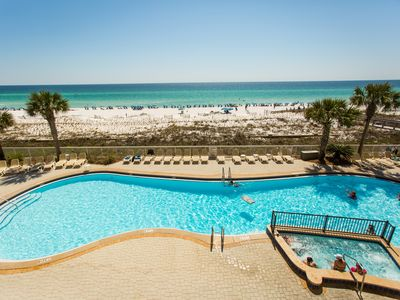 Photo for LAST MIN Aug 17-24 @$159/nt! Gulf Front Luxury 3BR/3BA, free beach setup, HiDef
