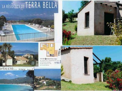 Photo for Porticcio: mini studio villa with terraces and garden at 1200 meters beaches