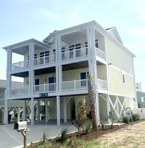 Photo for New custom built beach home with a private pool!