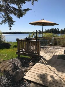 Photo for The Sugar Maple, Super cute bright cottage with deck on the lake