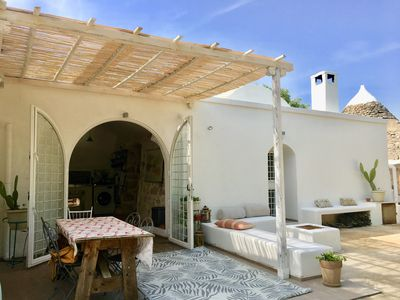 Photo for Tranquil and romantic private villa, trullo and pool set in organic olive grove