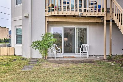 You'll have a private patio and peaceful lake views from the 2-BR, 2-BA getaway!