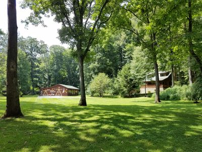 Photo for Peaceful mountainside cabin w/ views of the Pigeon River