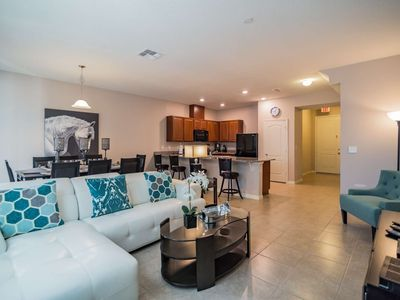 Photo for Luxury on a budget - Compass Bay - Welcome To Spacious 4 Beds 4 Baths Townhome - 3 Miles To Disney