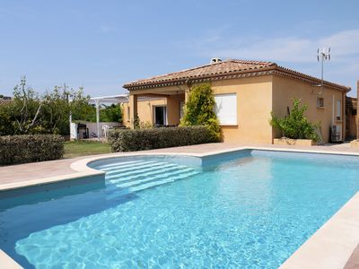Photo for Holiday villa in South France with private pool, air con, WiFi (sleeps 8)