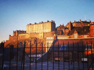 View of Edinburgh Castle from the roof area