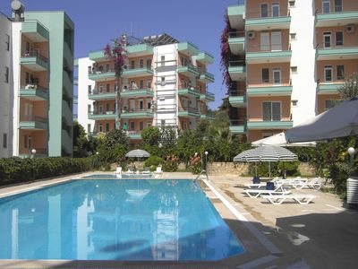 Photo for Beautiful apartment for up to 6 pers. In Avsallaer with large pool area