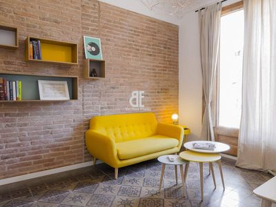Photo for Homes In Blue - Apartment with 3 bedrooms and 2 bathrooms with capacity for 6 people located in the heart of the Eixample district of Barcelona