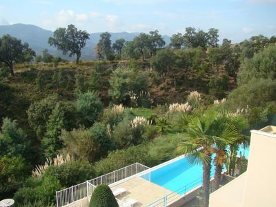 Photo for Fabulous apartment, pool, panoramic view, near Cannes, golf, beach