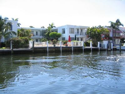 Great location on the Isle of Venice. The condo is lower level unit right side.