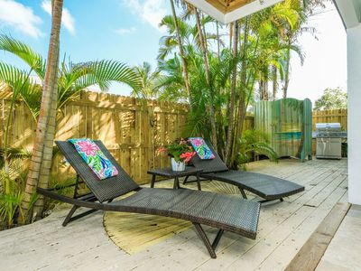 Photo for NEW YEARS AVAIL! Short Walk to Beach, 2 Decks, Oudoor Covered Area, 2 Pools!