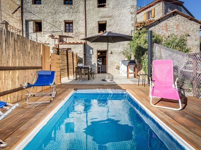 Photo for Cosy apartment for 6 guests with private pool, WIFI, TV and pets allowed