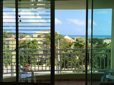 Photo for Ocean view in this spacious resort-style condo with power, water and wifi.
