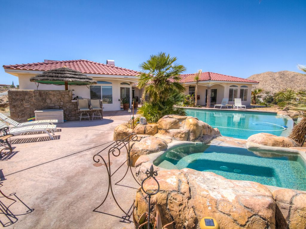 Ten Person Saltwater Jacuzzi. The Hills of Palm Springs  Book Now and      HomeAway Yucca Valley