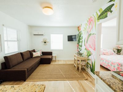 Photo for Lets flamimngle!!! Fun and Funky St Pete Beach apartment sleeps 4