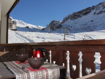 Photo for Studio Cabin 4 people in Val Claret, facing the funicular!Grande Motte
