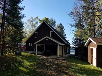 Relax in our quiet, lakefront cabin