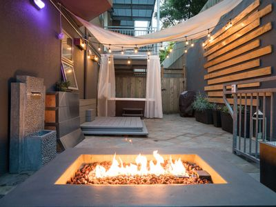 Photo for Modern unit w/Private patio, Hot tub, Fire pit, Free Parking + Convertible Car