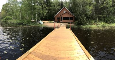 Baldy Lake Cottage, fish from the dock