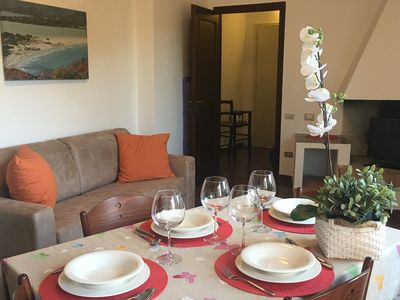 Photo for Villasimius: Surrounded by greenery. Quiet comfortable apartment.