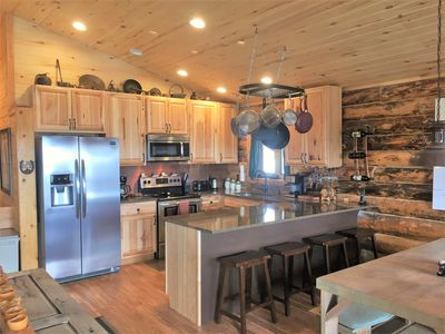 Photo for Beautiful Log Cabin On 6 Mtn Acres Close To All!