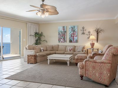 Photo for Gorgeous beachy condo, Incredible gulf-front views, Close to family-friendly activities